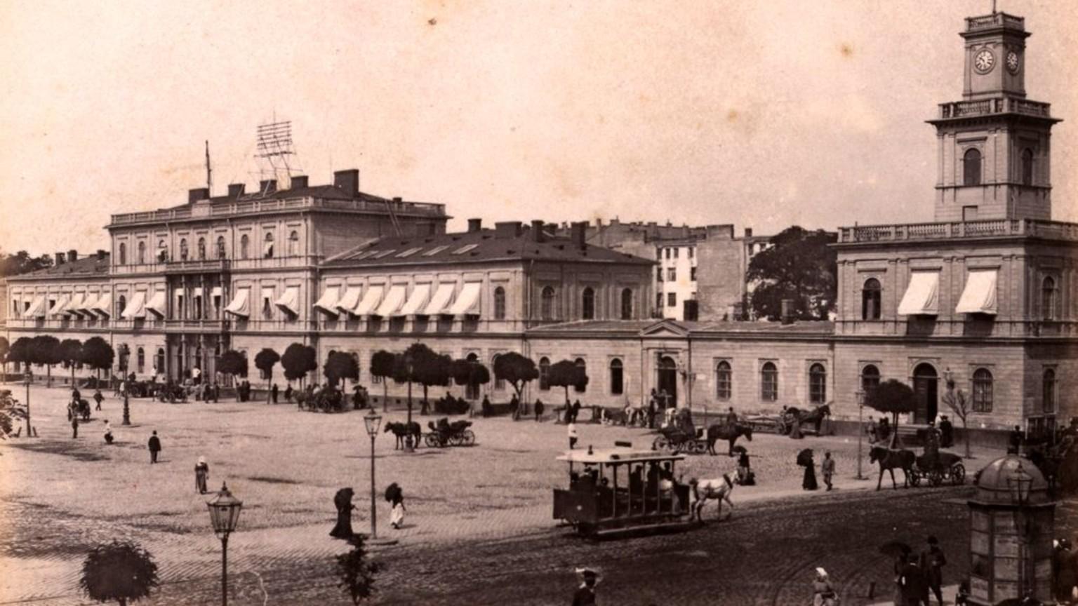 Zdjęcie dla kartki: Pierwszy warszawski tramwaj