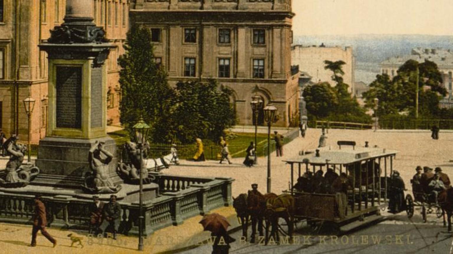 Zdjęcie dla kartki: Uruchomienie sieci tramwajów konnych Towarzystwa Belgijskiego