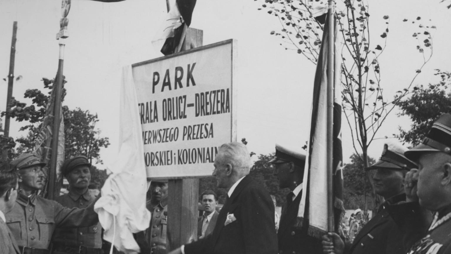 Zdjęcie dla kartki: Otwarcie Parku im. gen. Gustawa Orlicz-Dreszera