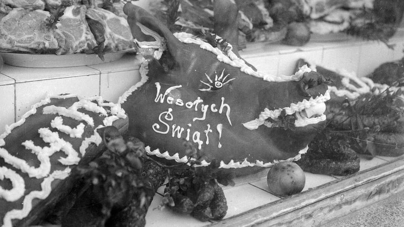 Zdjęcie dla kartki: Świąteczne zakupy w PRL