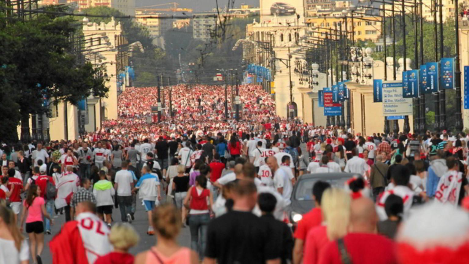 Zdjęcie dla kartki: Inauguracja Euro 2012 na nowym Stadionie Narodowym