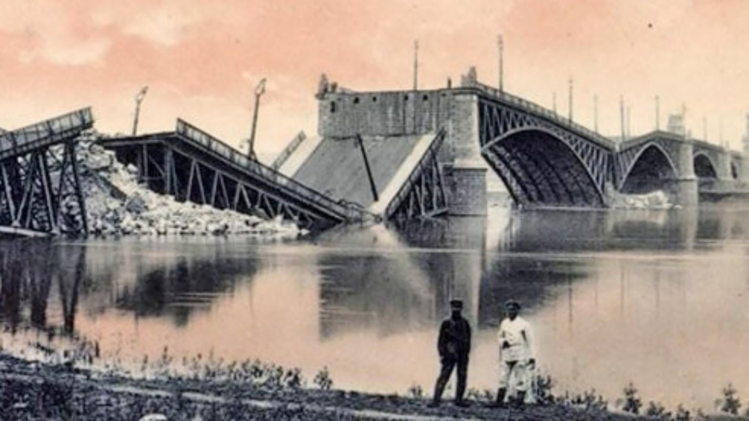 Zdjęcie dla kartki: Wszystkie mosty wysadzone