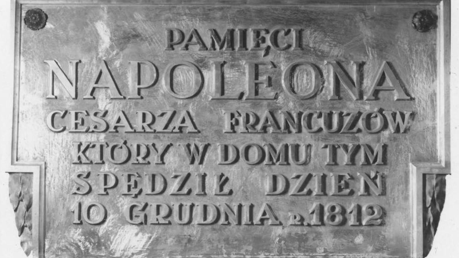 Zdjęcie dla kartki: Odsłonięcie tablicy ku czci Napoleona na Hotelu Angielskim