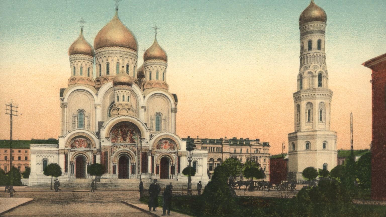 Zdjęcie dla kartki: Poświęcenie soboru Aleksandra Newskiego na pl. Saskim