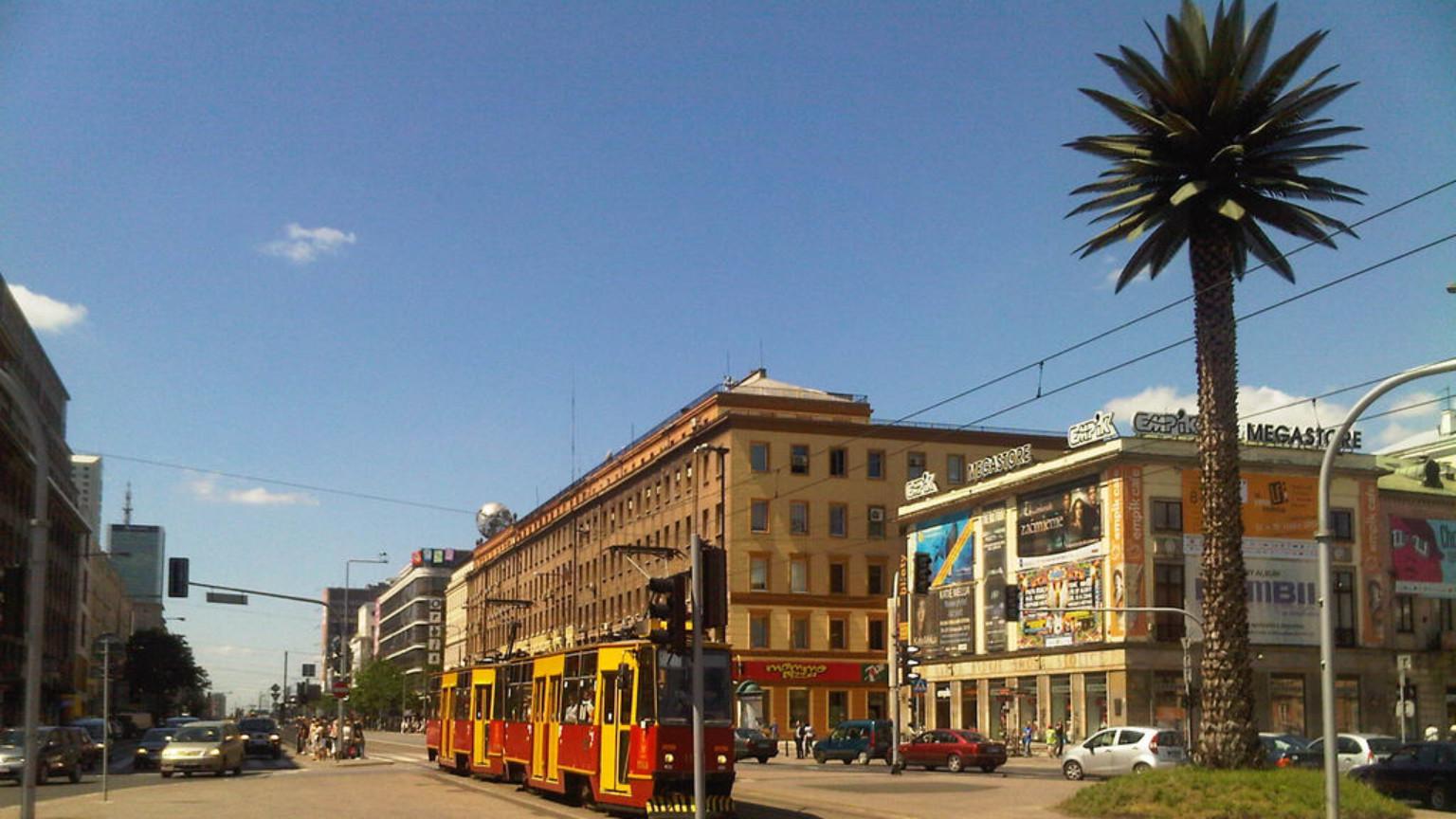Zdjęcie dla kartki: Warszawa pod palmami