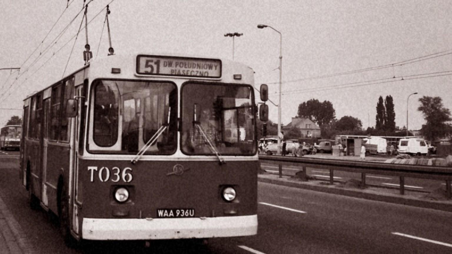 Zdjęcie dla kartki: Ostatni warszawski trolejbus