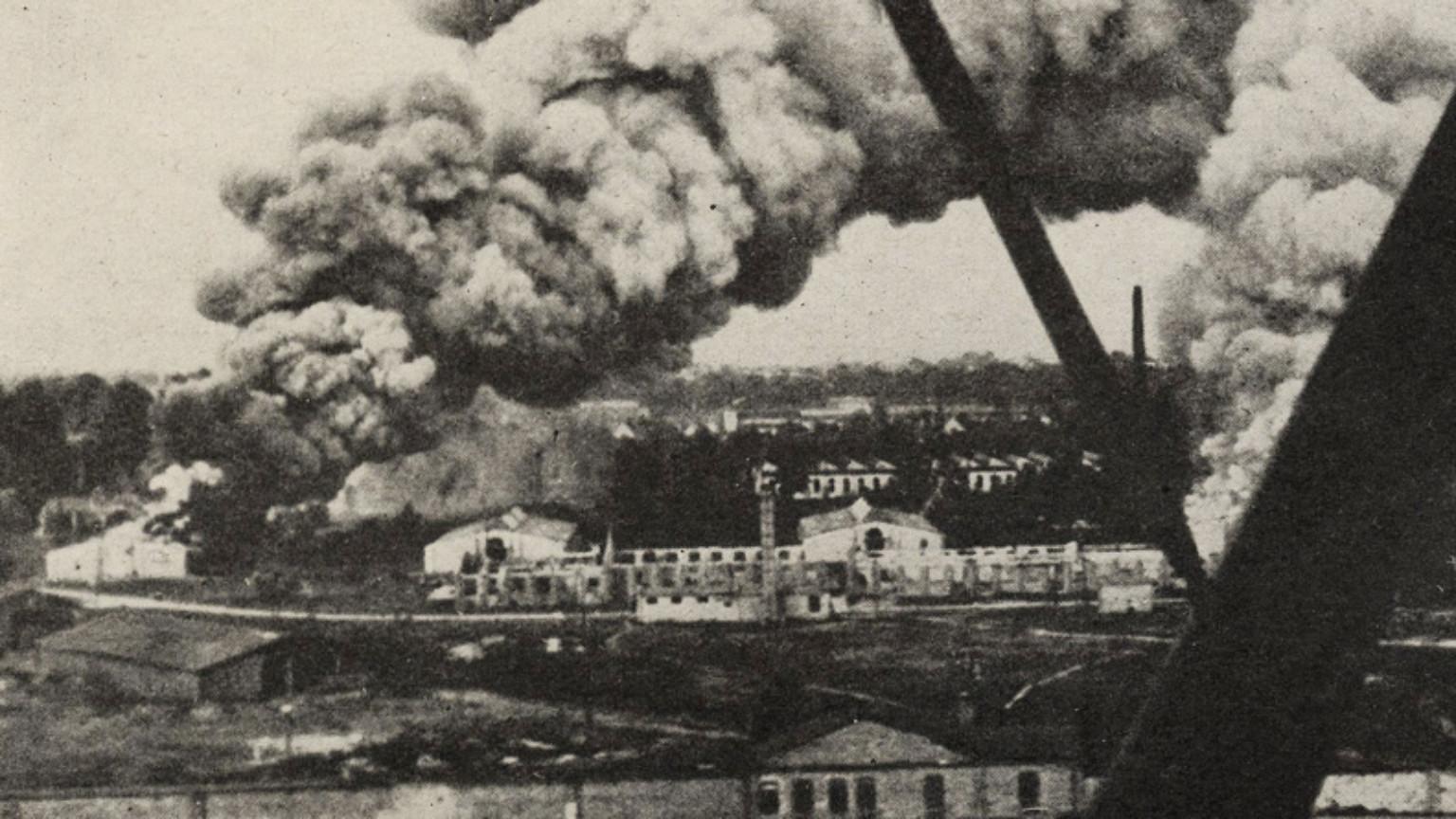 Zdjęcie dla kartki: Warszawa w pierwszym dniu II wojny światowej