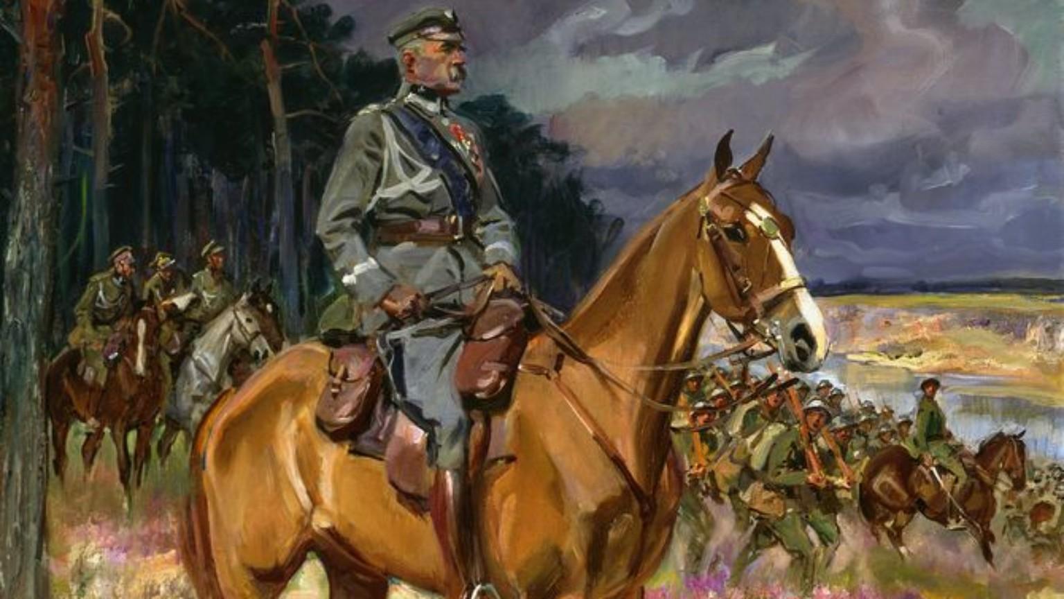 Zdjęcie dla kartki: Śmierć Kasztanki, ulubionej klaczy Józefa Piłsudskiego