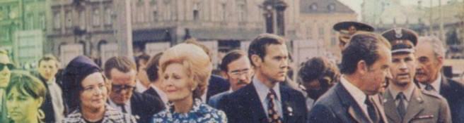 Zdjęcie do artykułu: Prezydent Nixon pod kolumną Zygmunta