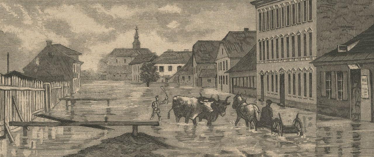 Zdjęcie dla kartki: Powódź w Warszawie