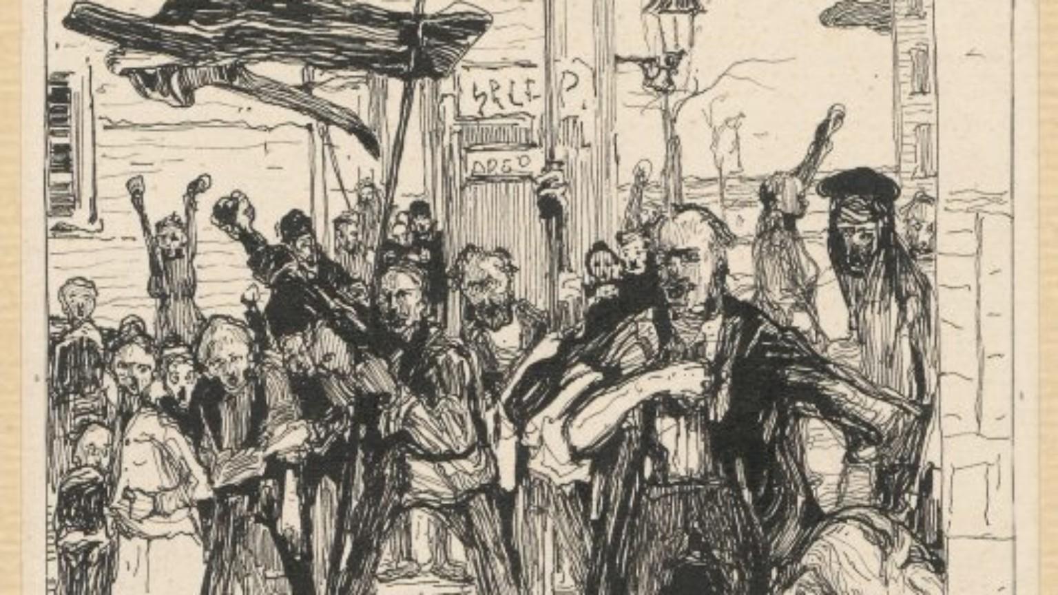 Zdjęcie dla kartki: Rewolucja 1905: Masakra na pl. Teatralnym