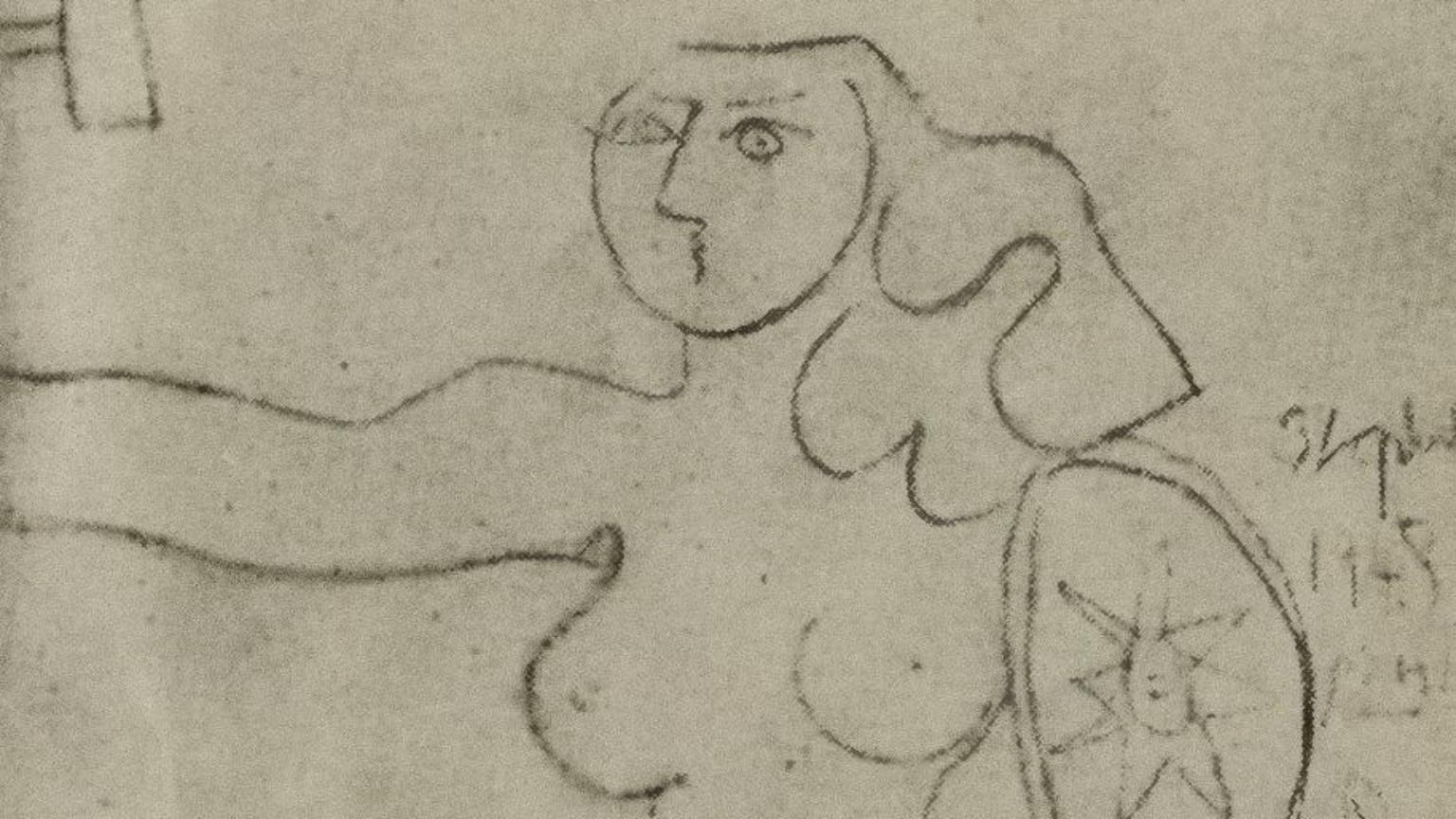 Zdjęcie dla kartki: Picasso maluje warszawską Syrenkę